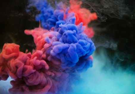 multicolored smoke